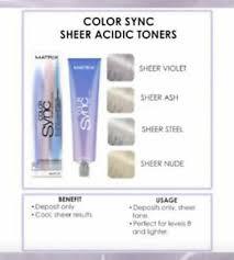 Details About Matrix Colorsync Hair Color Sync 5 Sheer Acidic Toners All Colours Stocked