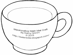 hot chocolate mug clipart. above is a template, mug for hot chocolate or cocoa, that i have designed this counting placemat project. clipart