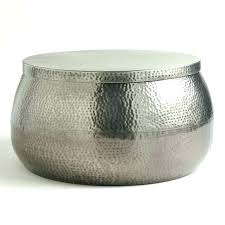silver drum table drum coffee tables round drum coffee table silver drum coffee table metal drum