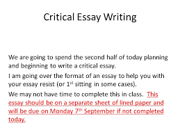 critical essay writing ppt video online  critical essay writing