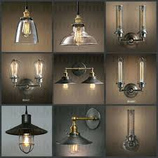 full image for vintage style hanging lamps style lamp guard cage ihanging edison bulb light