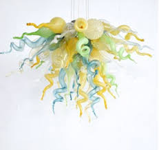 large viz art glass california sunshine chandelier small