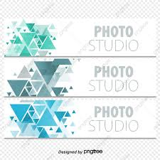 Fashion Simple Geometric Design Icon Banners Banners Colorful