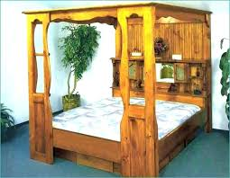 Wood Canopy Bed Frame Full Size Of King Size Wood Canopy Bed Frame ...