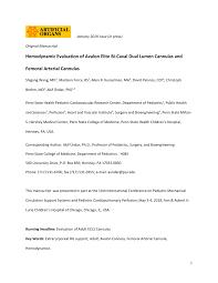 Pdf Hemodynamic Evaluation Of Avalon Elite Bi Caval Dual