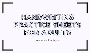 free printable handwriting practice