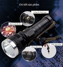 Đèn pin cao cấp siêu sáng công suất cao T6 dùng đi dã ngoại, đi phượt (Tặng đèn  pin mini bóp tay-giao màu ngẫu nhiên) - Đèn pin Hãng OEM