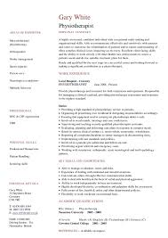 physiotherapy resumes template resume format for physiotherapist job -  Chief Physiotherapist Resume