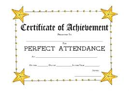 Image result for perfect attendance report card image