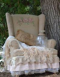 burlap furniture. burlap chair with embroidery modern interior decorating ideas in vintage style furniture p