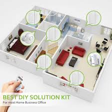 bibene 2 4ghz wifi home security door alarm system diy kit works with alexa upgraded wp6
