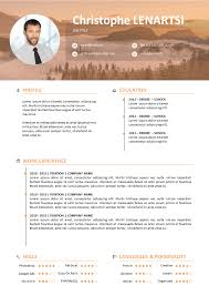 Resume Modern Ex Free Resume Modern With Photo To Download