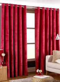 grey bedroom walls red curtains