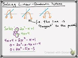 solving linear quadratic systems