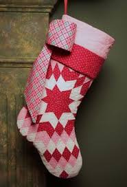 For my fellow pinners who are in to DIY. Quilted Christmas ... & christmas stocking patterns to quilt | Stunning Pink and Red Star Pattern  Vintage Quilt Christmas Stocking Adamdwight.com