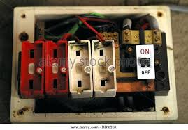 screw terminal fuse box old fuses stock photos images style wire  at Old Fuse Box Is Now Called A