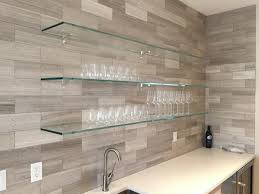 kitchen furnishing glass shelf wall shelves glass furnishing ideas