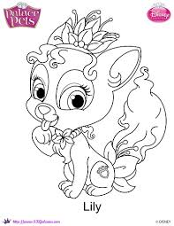 Small Picture Disney Princess Palace Pets Lily coloring Page by SKGaleana on