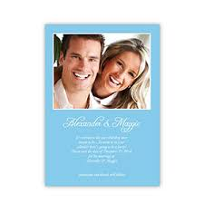 Announcement Cards Wedding Baby Blue Wedding Announcement 5x7 Stationery Card