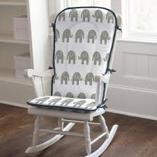 Navy And Gray Elephants Rocking Chair Pad Carousel Designs Navy Blue Rocking Chair Pads