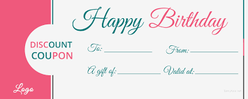 Birthday Coupon Template Images Template Design Ideas