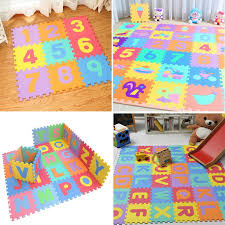 <b>10pcs Baby EVA</b> Foam Mat Alphabet Numbers Fruit Soft&Comfy ...