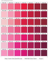 Scarlet Color Chart Pantone Color Chart Pms Ink Color
