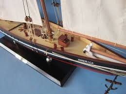 wooden america limited model sailboat