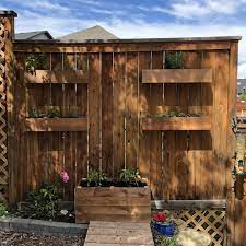 diy fence mounted herb planters how to
