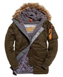 superdry microfibre parka coat superdry men jacket coats dark army superdry