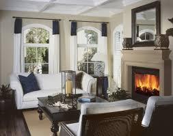 living room dark wood
