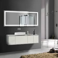 Large Modern Lighted <b>Wall</b> Mounted <b>Bathroom</b> Vanity <b>Mirror</b>, <b>LED</b> ...
