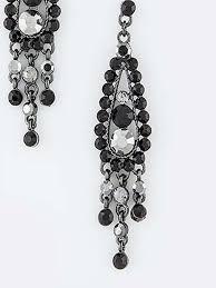 black crystal rhinestone chandelier earrings black crystal chandelier earrings