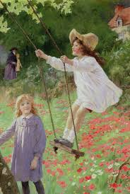 the swing painting percy tarrant the swing art print