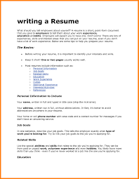 How To Write Resume Sample Examples Writing Top A Templates For The