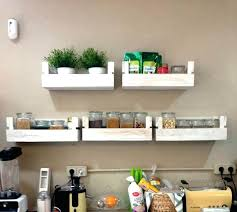 kitchen wall shelf amazing com rustic wood with metal rail also regard for 7