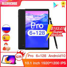 ALLDOCUBE IPlay20 Pro 10.1 Inch Android 10 Máy Tính Bảng RAM 6GB 128GB ROM  9863A Viên 4G LTE gọi Điện Thoại Iplay 20 Tablets