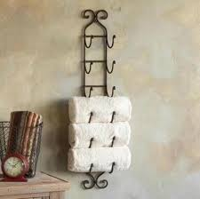 towel hanger ideas. Unique Ideas Wrought Iron Towel Rack With Hanger Ideas E