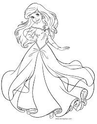 Small Picture Awesome Coloring Pages Ariel A Dress Pictures New Printable