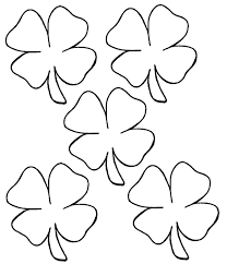 Shamrock Coloring Page Small Shamrock Coloring Page Coloring Pages