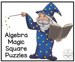 algebra magic square puzzles order of operations solving equations
