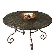 butler specialty metalworks dark bronze metal round coffee table