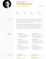 Free Html Resume Free One Page Responsive Html Resume Template Ukiecardal Vcard 19