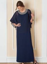 R M Richards Popover Beaded Neck Gown