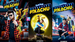 Pikachu Background Text Png Download For Picsart Photoshop