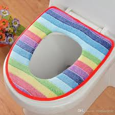 2018 new winter toilet seat warmer c fleece thicken carpet toilet seat cover soft comfortable baby potty seat overcoat toilet mat from yourlifestyle