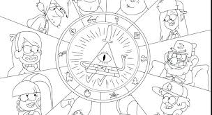 Coloring Pages Of Gravity Falls Gravity Falls Printable Coloring