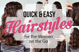Easy Hairstyles On The Go 22 Easy Hairstyles For Busy Women Alyaka