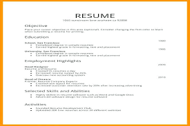 Resume Format Download For Freshers Download As Simple Resume Format