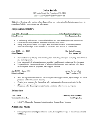free sales resume template